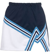 Custom Ladies 2 Color A-Line Cheer Skirt With Trim