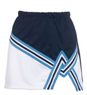 Girls  2 Color A-Line Cheer Skirt With Trim