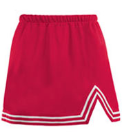 Custom Youth Girls A-Line Cheer Skirt With V-Notch
