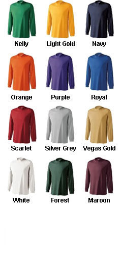 Adult Spark Long Sleeve Moisture Management Tshirt by Holloway - All Colors