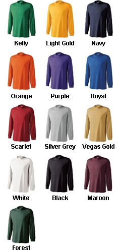 Youth Spark Long Sleeve Moisture Management Tshirt by Holloway - All Colors