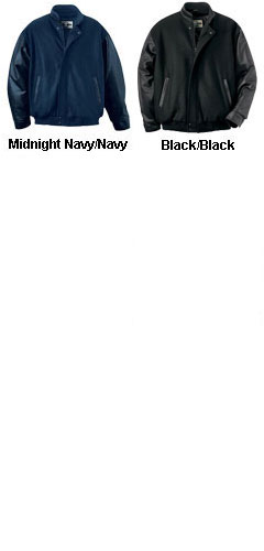 Mens Melton Leather Jacket With Stand Up Collar - All Colors