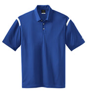 Custom NIKE Golf Mens Dri-FIT Shoulder Stripe Sport Shirt