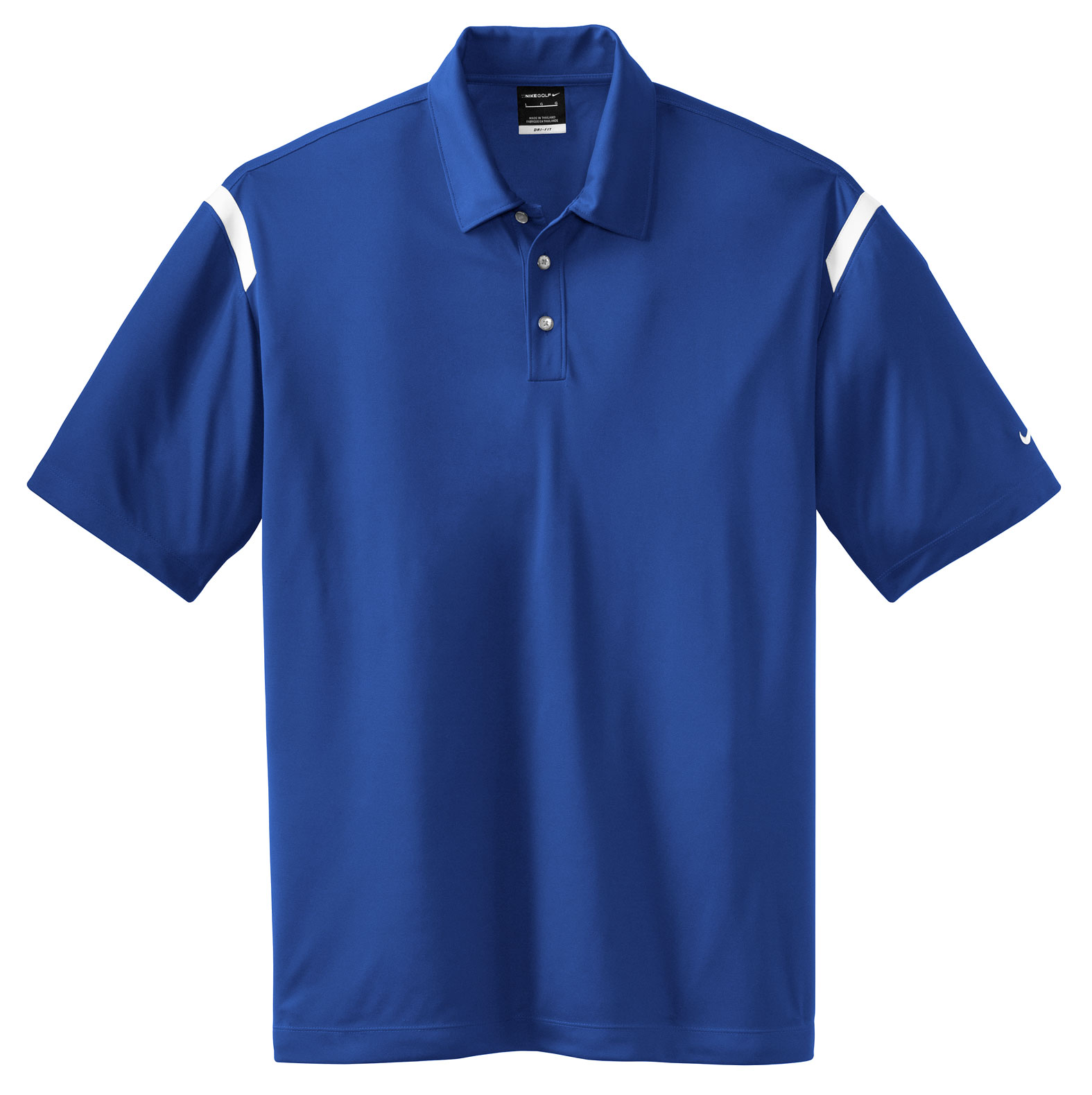 NIKE Golf Mens Dri-FIT Shoulder Stripe Sport Shirt