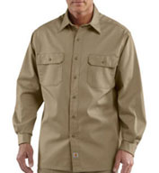 Custom Carhartt Mens Long-Sleeve Twill Work Shirt