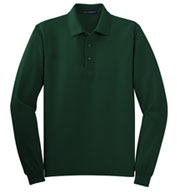 Custom Port Authority® Mens Silk Touch™ Long Sleeve Polo