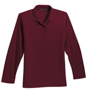 Custom Port Authority® Ladies Long Sleeve Silk Touch™ Polo