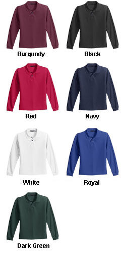 Youth Long Sleeve Silk Touch™ Sport Shirt - All Colors