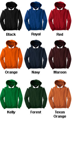 Sport-Tek® - Pullover Hooded Sweatshirt with Contrast Color - All Colors
