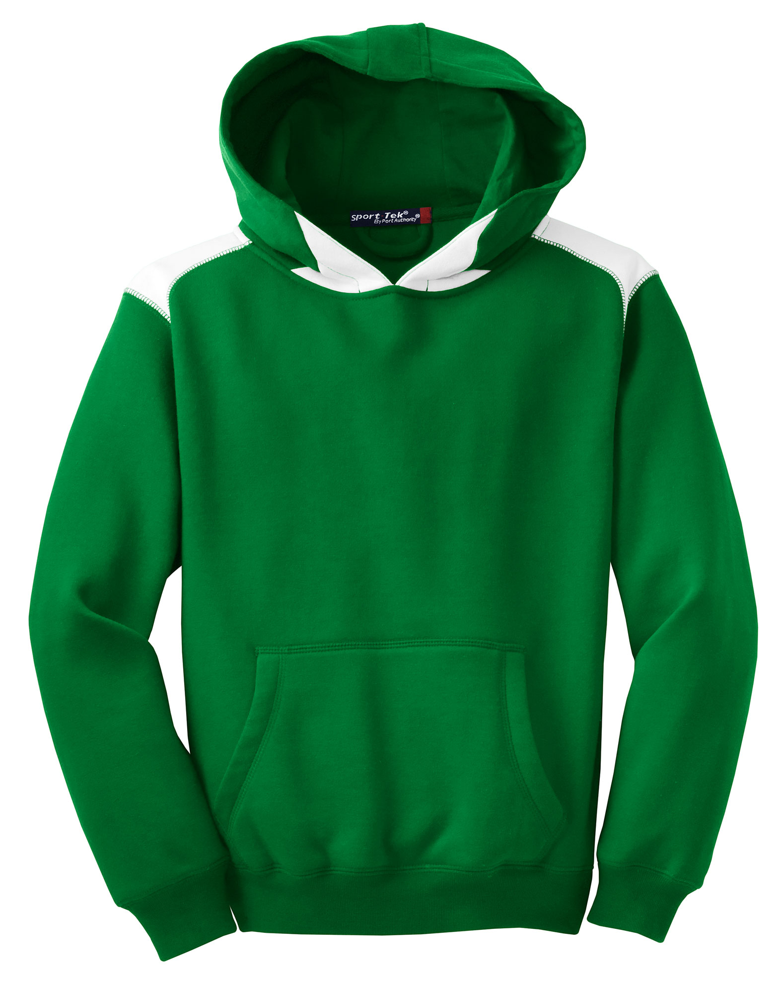 Sport-Tek® - Pullover Hooded Sweatshirt with Contrast Color