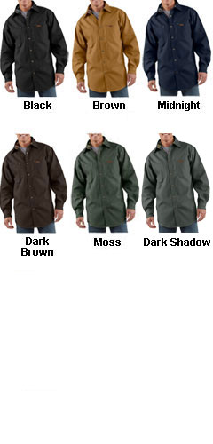 Mens Canvas Shirt Jacket by Carhartt - All Colors