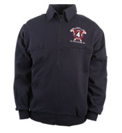 Custom The Firefighters Full Zip Workshirt Mens