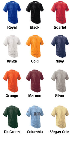 Youth Fencebuster Solid Full Button Jersey - All Colors