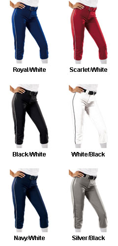 Womens 14 oz Low Rise Piped Pro Style Pant - All Colors