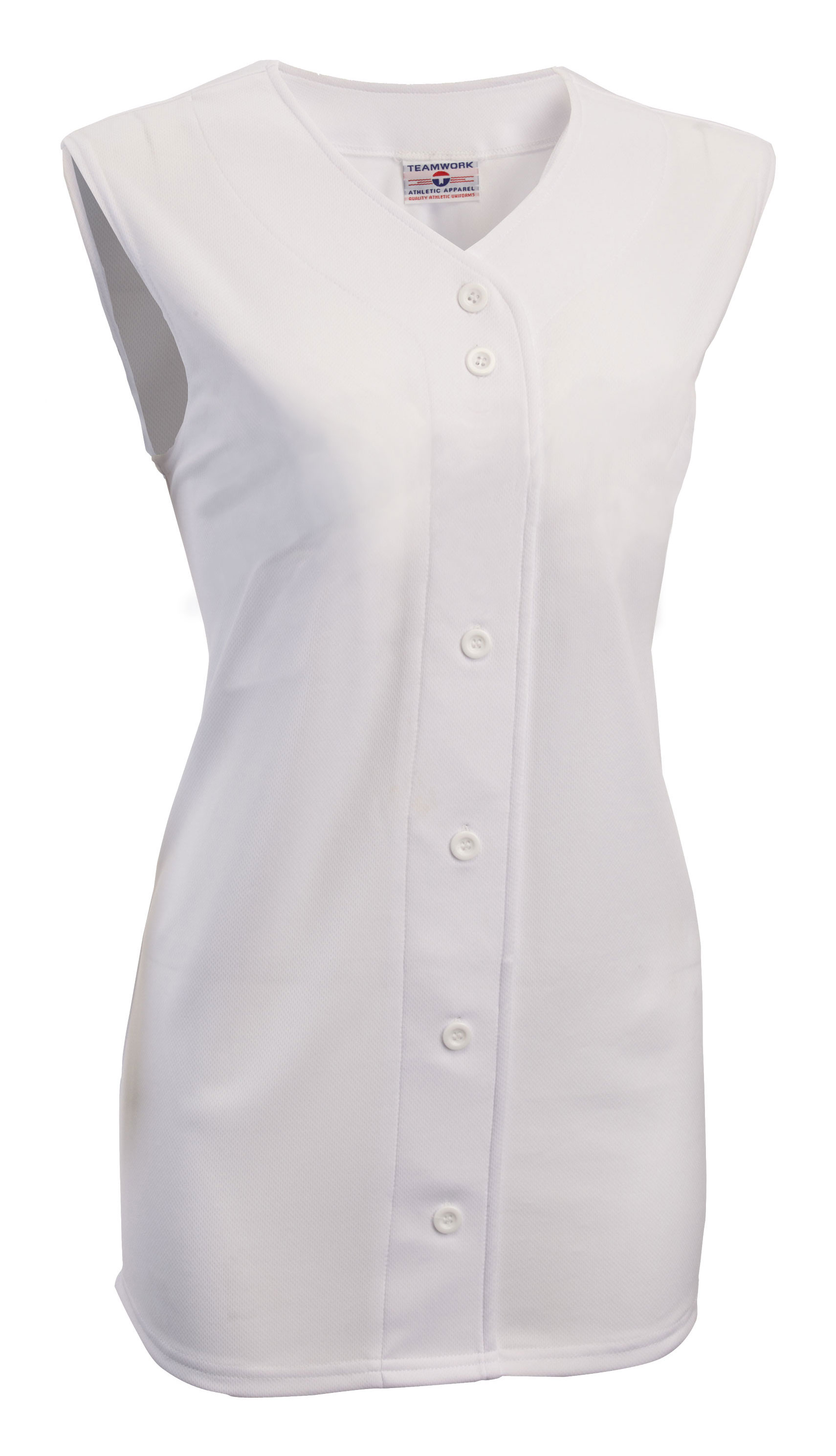 Womens On Deck Sleeveless Faux Full Button Down Jersey