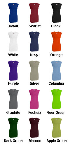 Youth Girls On Deck Sleeveless Faux Full Button Down Jersey - All Colors