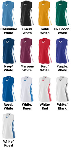 Youth Girls Wicking Mesh Powerhouse Softball Jersey - All Colors