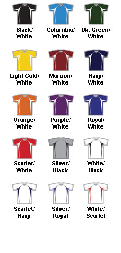 Youth Color Block Baseball Jersey by Alleson - All Colors