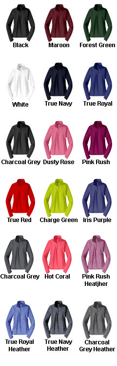 Ladies Sport-Wick® Stretch 1/2-Zip Pullover - All Colors