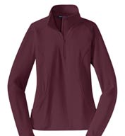 Custom Sport-Tek® Ladies Sport-Wick® Stretch 1/2-Zip Pullover