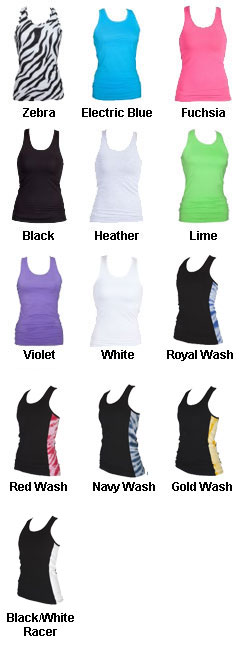 Girls Practice Racer Tank - All Colors