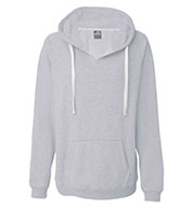 Custom J. America Ladies Sydney Brushed V-Neck Hooded Sweatshirt