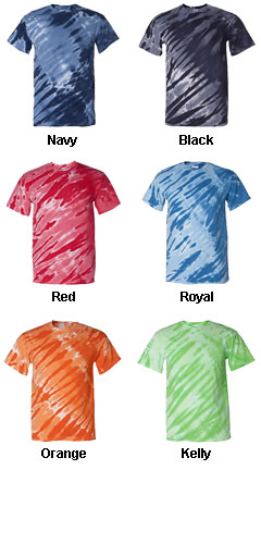 Adult Tiger Stripe Tie Dye Tee - All Colors