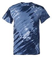 Adult Tiger Stripe Tie Dye Tee