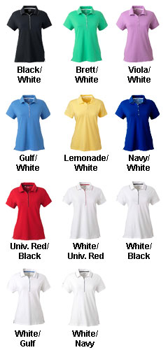 Adidas Golf Womens ClimaLite® Tour Jersey Short-Sleeve Polo - All Colors