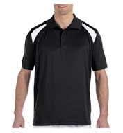 Custom Harriton Mens 4 oz. Polytech Colorblock Polo