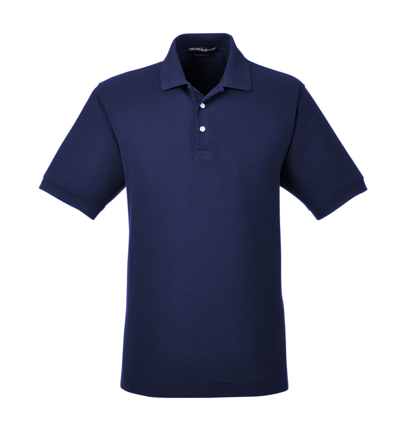 Devon & Jones Mens Pima Piqué Short-Sleeve Polo