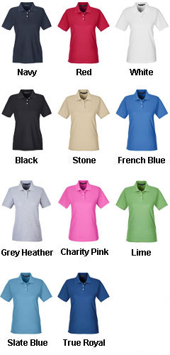 Ladies Pima Piqué Short-Sleeve Polo - All Colors