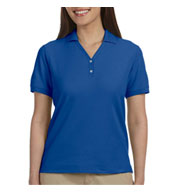 Custom Devon & Jones Ladies Pima Piqué Short-Sleeve Y-Collar Polo