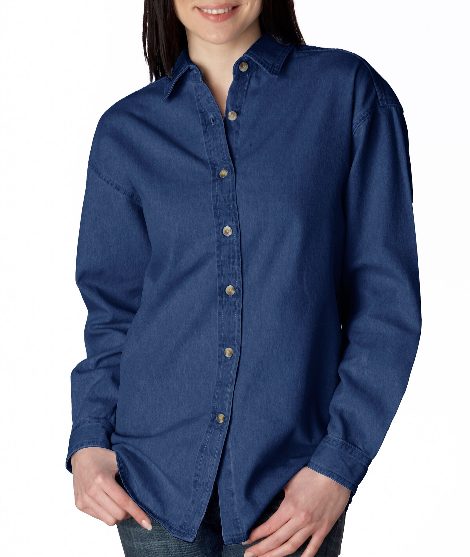 Womens Long Sleeve Denim Shirt Intro Special