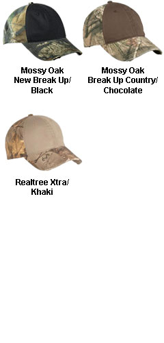 Camo Cap with Contrast Front Panel - All Colors