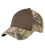 Custom Camo Cap with Contrast Front Panel