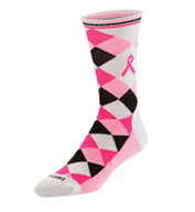 Custom Ribbon Argyle Crew Socks
