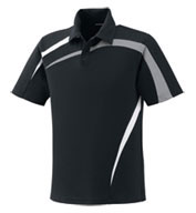 Mens Performance Polyester Pique Color-Block Polo