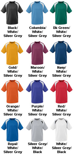 Adult Wicking Mesh Tri-Color Jersey - All Colors