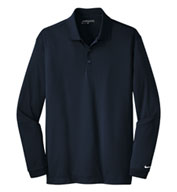 Custom Nike Golf Mens Long Sleeve Dri-FIT Stretch Tech Polo