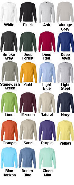 Hanes Beefy Long Sleeve T-Shirt - All Colors