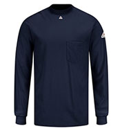 Custom Bulwark® Mens Fire Resistant Knit Long Sleeve T-Shirt