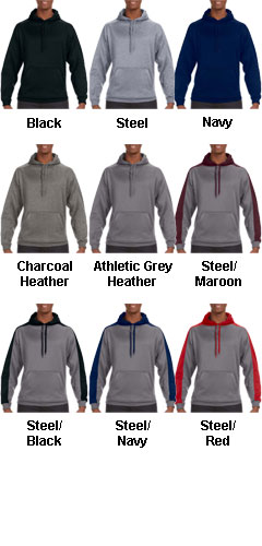 J America Adult Polyester Fleece Hooded Pullover - All Colors