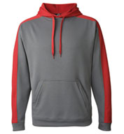 Custom J America Adult Polyester Fleece Hooded Pullover