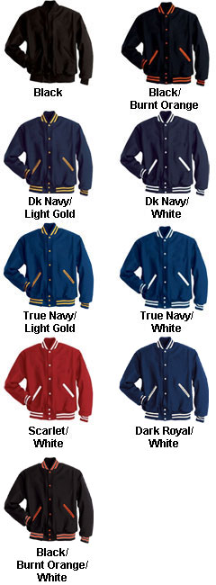 All Wool Letterman Jacket - All Colors