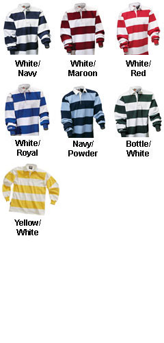 Long Sleeve Striped Custom Rugby Shirt - All Colors