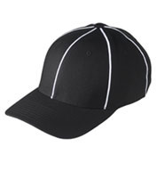 Custom Black w/ White Football Referee Cap - Size Large/XLarge