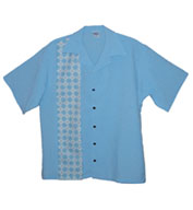 Custom Argyle Mens Bowling Shirt