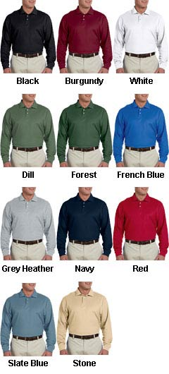 Devon & Jones Mens Pima Piqué Long-Sleeve Polo - All Colors