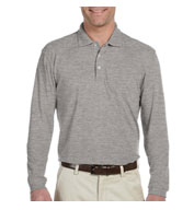 Custom Harriton 5.6 oz. Easy Blend Long-Sleeve Polo Mens